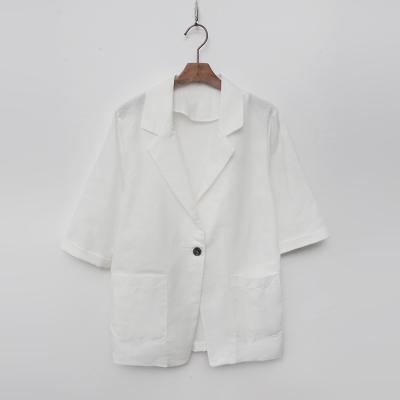 Linen One Button Jacket - 반팔