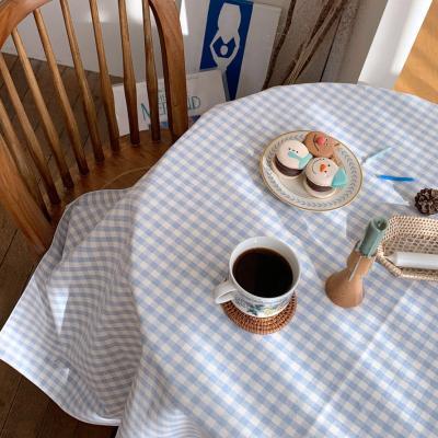 에블린 깅엄 체크 방수 식탁보 2인L