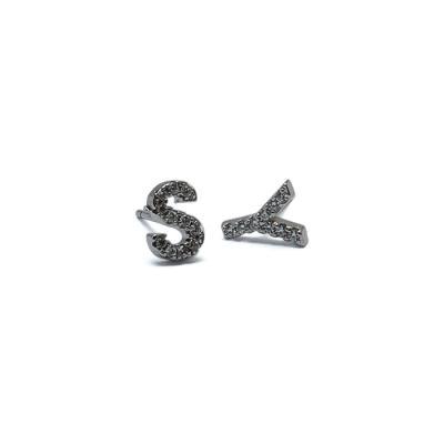 실버 925 산도스 알파벳 귀걸이