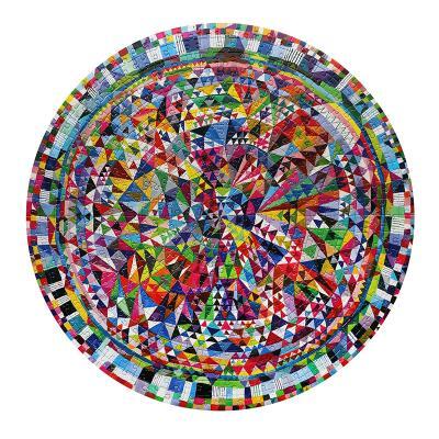 트라이앵글 패턴 500피스 라운드 퍼즐