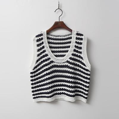 Sky Stripe Knit Vest