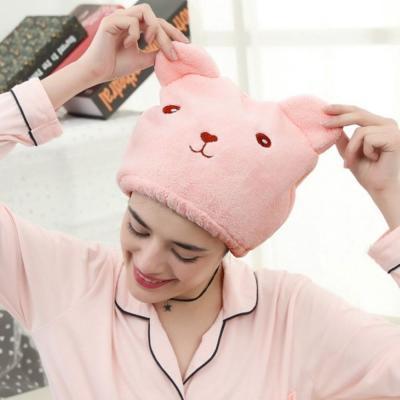 헤어타올 드라이수건 핑크