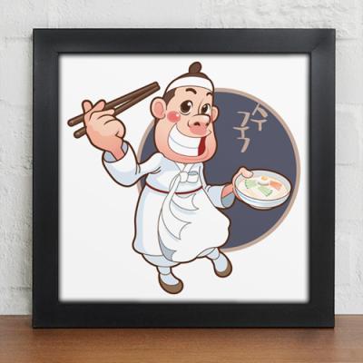 iv274-음식점캐릭터_따끈한국수_인테리어액자