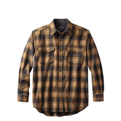 [펜들턴] 가이드 셔츠 울 체크 올리브 블랙