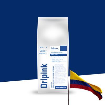 드립핑크 갓볶은 콜롬비아 슈프리모 원두커피 500g