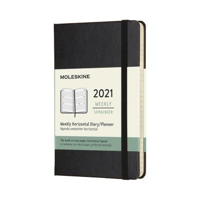 몰스킨 2021위클리(가로형)/블랙 하드 P