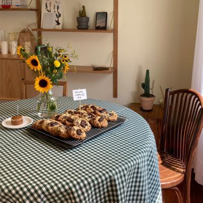 에블린 깅엄 체크 방수 식탁보 2인정사각