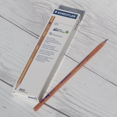 스테들러 클래식연필 Natural wood 123 60 HB 1다스