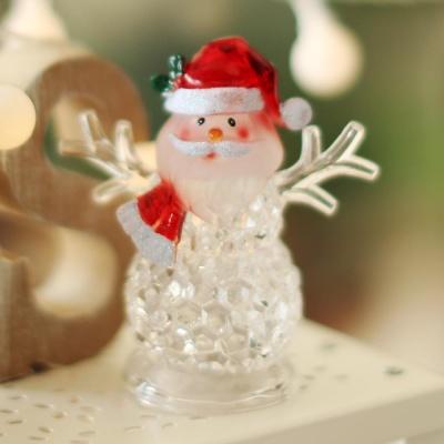 LED점등 크리스탈 인형장식 (산타)