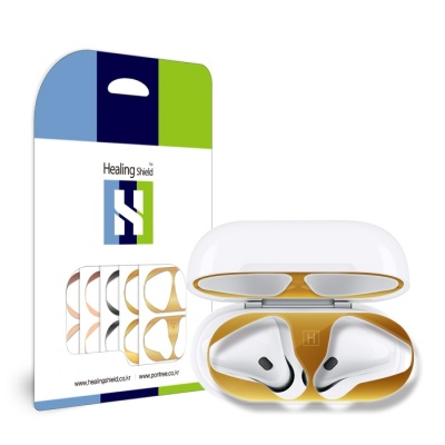 에어팟 철가루 방지 스티커 무선-스페이스그레이 유광