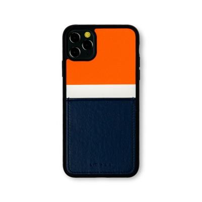 스매스 아이폰11프로 맥스 보호 카드케이스 씨원_네이비/오렌지