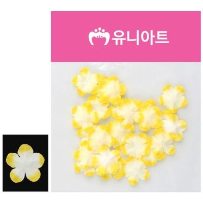 유니아트 싸리꽃 백색 노랑 DIY 조화꽃 장식 재료