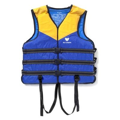 국산 돌핀 오렌지 구명조끼(XL)/ 수영 부력보조복
