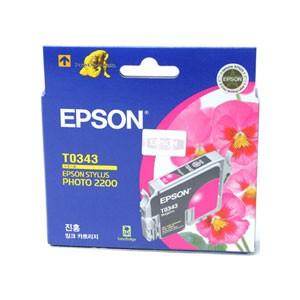 엡손(EPSON) 잉크 C13TO34370 / 진홍 / Styius Photo 2200