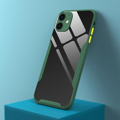 아이폰xr xs max /컬러 라인 범퍼 투명 실리콘 케이스