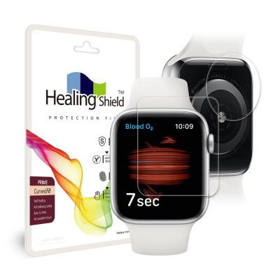 애플워치6 40mm 프라임 고광택 액정 2매 심박센서 2매
