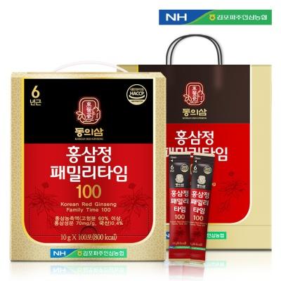 동의삼 홍삼정 패밀리타임100 10g x 100포