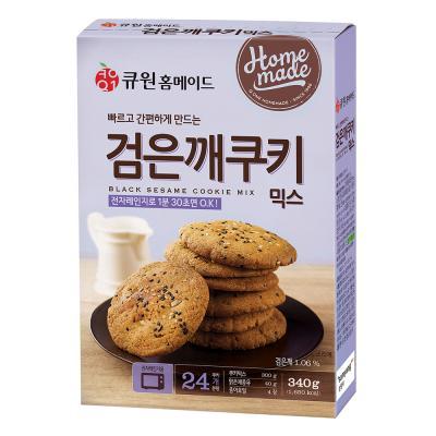 큐원 검은깨 쿠키 믹스 (전자레인지용) 340g