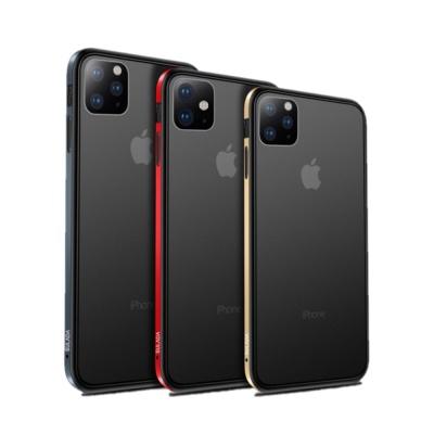 블랙 시크 메탈 반투명 범퍼 케이스 아이폰11 pro max