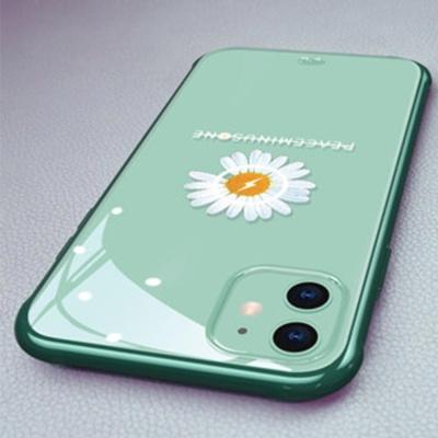 아이폰x xs 맥스 7 8 + 예쁜 국화꽃 범퍼 투명케이스