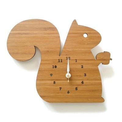 디코이랩(Decoylab) 다람쥐 우드 무소음 벽시계