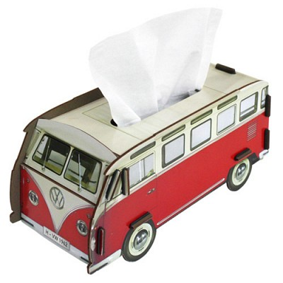 Tissue case red bus