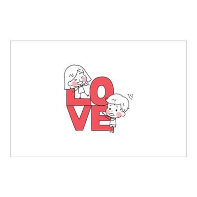 왈가닥스 러블리 포스트카드 엽서 - love