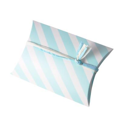 베이비블루 스트라이프 반달 상자 소 (2개)
