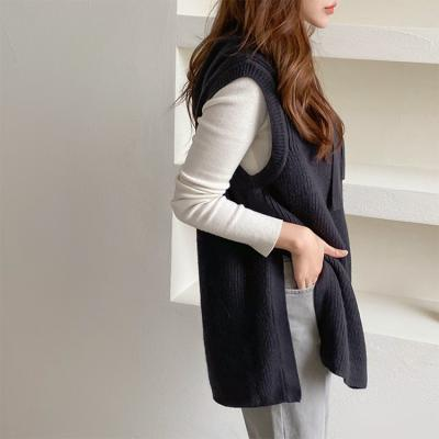 Hooded Long Vest