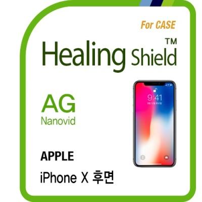아이폰X 후면 AG 지문방지 보호필름 2매(케이스용)