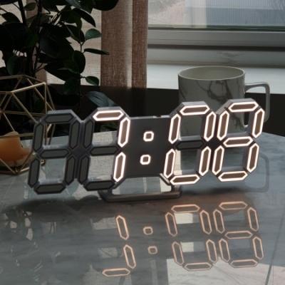 플라이토 3D LED 탁상 벽시계 엣지 라인 25cm