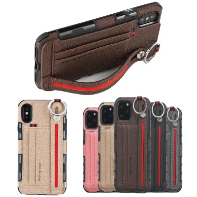 아이폰11 프로 맥스 패브릭 카드수납 스트랩 폰케이스
