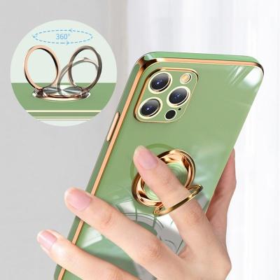 아이폰11 PRO MAX 유광 골드라인 핑거링 실리콘케이스