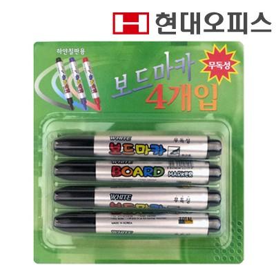 보드마카 검정 (1갑 4개입) / 보드 소모품
