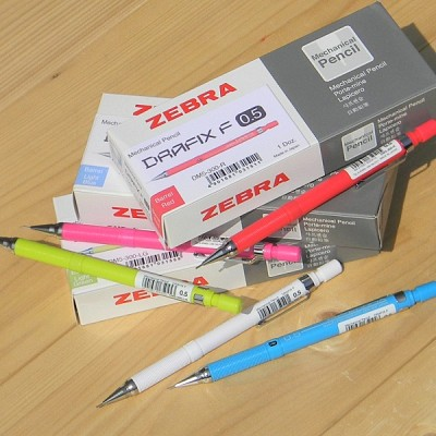 [ZEBRA] 화사한 칼라의 0.5mm 샤프펜슬-일본 제브라 드라픽스 F 1다스(12자루) DM5-300