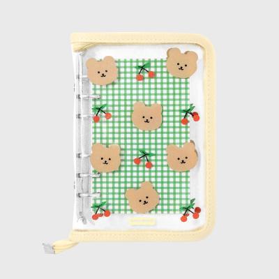 Dot cherry bear-ivory(6hole diary)