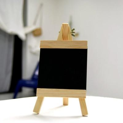 화분 데코레이션용 우드 칠판 이름표(이젤) 12x23cm