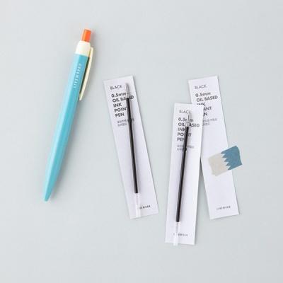 포인트 펜 리필심 0.5mm (블랙)