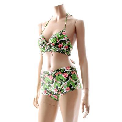 비키니 수영복- 그린 나뭇잎 M5029