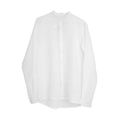 [게타] Getta Linen china collar shirt (White)