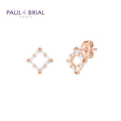 폴브리알 PYBE0097 (PG) 사각 큐빅 귀걸이 小