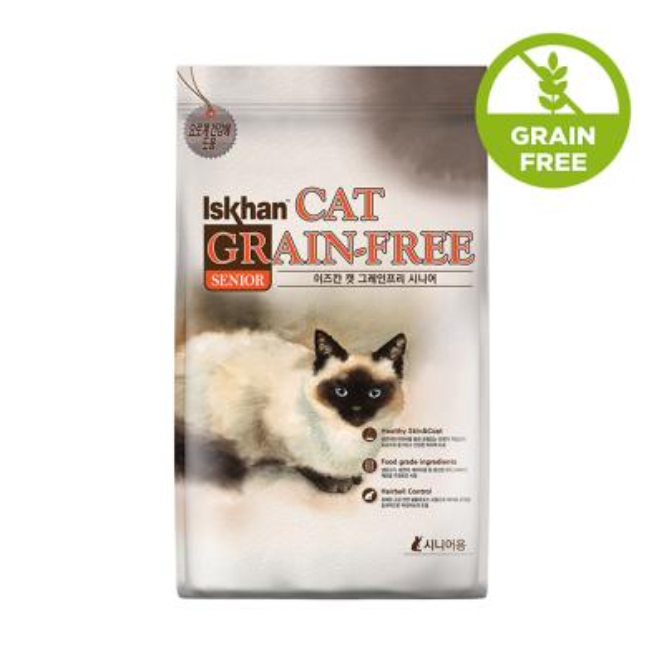 이즈칸 캣 그레인프리 시니어 6.5kg 고양이 사료