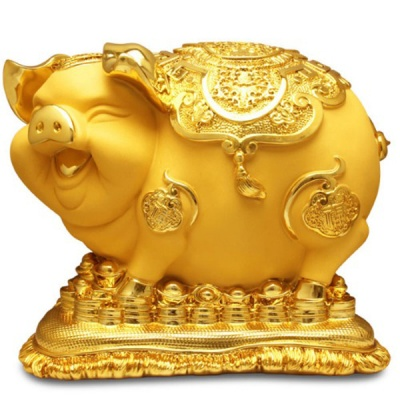 황금돼지저금통 5kg 저금통 인테리어소품-황금돼지저금통 5kg 무광