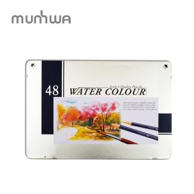 문화 고급 수채 색연필 48색 틴케이스