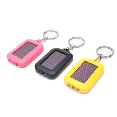 태양열 열쇠고리형 LED 손전등 (칼라랜덤)