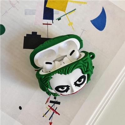 에어팟1/2/3 프로 특이한 3D조커 캐릭터 실리콘케이스