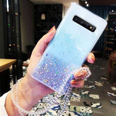 슬림핏 아이폰11/PRO/MAX 글리터 투명 젤리 폰케이스