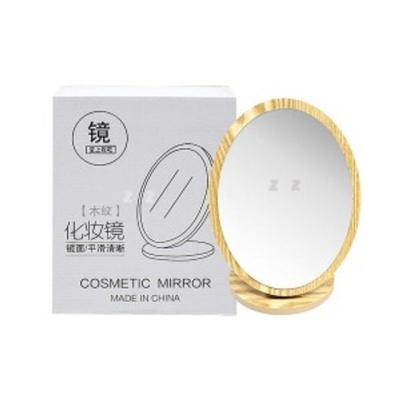 샤인빈 타원형 원목 거울 메이크업 욕실 탁상