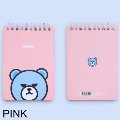 캐릭터문구용품 크렁크 상철수첩 심플 1개 핑크