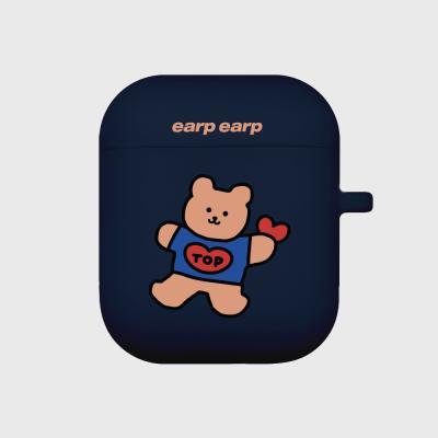 Bear heart-navy(Air Pods)